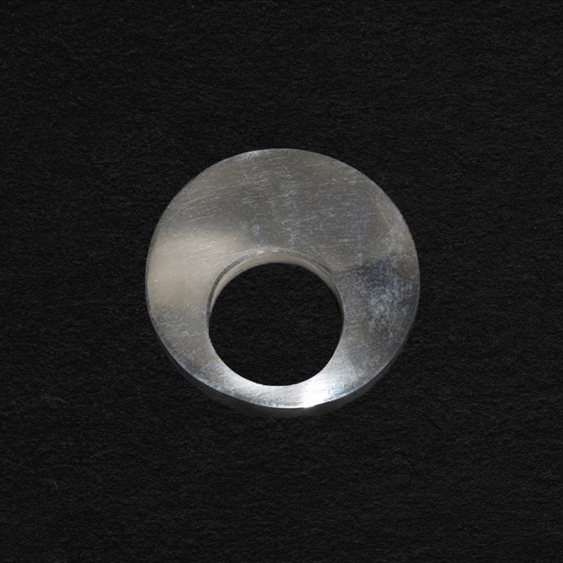 Silver circle brooch